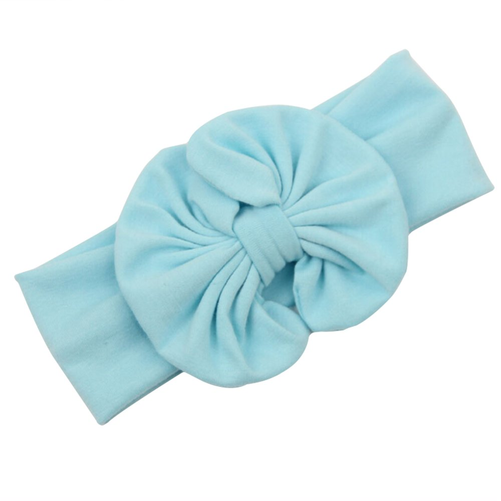 dragonaur Kids Baby Girls Cute Big Bow Stretch Headband Turban Bowknot Head Wrap Hairband