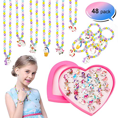 Konsait 48pcs Unicorn Party Supplies Kit Little Girl