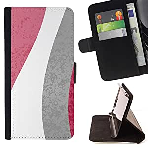For LG G3 Case , Modelo de flores Líneas Blanco Gris Rosa- la tarjeta de Crédito Slots PU Funda de cuero Monedero caso cubierta de piel
