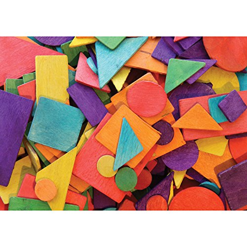Creativity Street Die-Cut Basics, Assorted Wood Shapes, Pack of 200