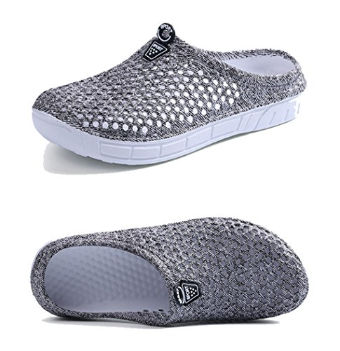 Mules Leisure Clogs Sandals Shoes Gaga Grey Shower Women's Ms Solid Beach pqSwOFgxIx
