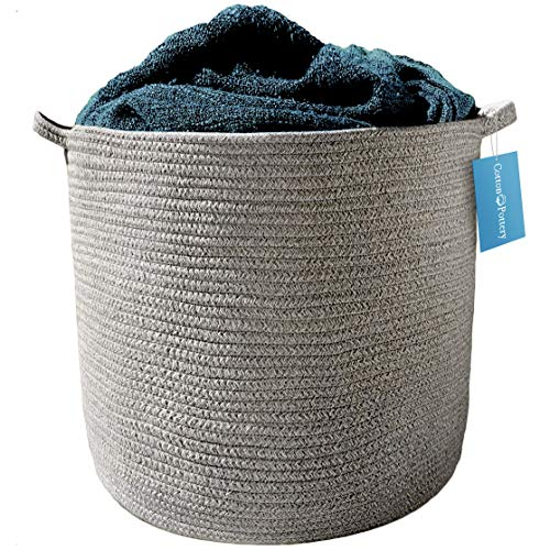 (Cotton Pottery Extra Large Cotton Rope Basket 17