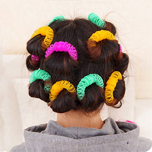 8Pcs New Hair Styling Roller er Plastic Hair Curler Curler Spiral Curls DIY Tool Hair Accessories by HAHUHERT (Image #3)