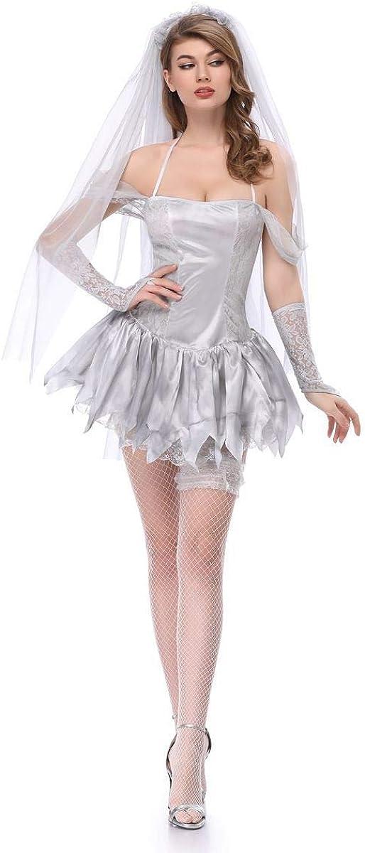 CWZJ Disfraces De Halloween Velo Fantasma Novia Cadáver Seco ...