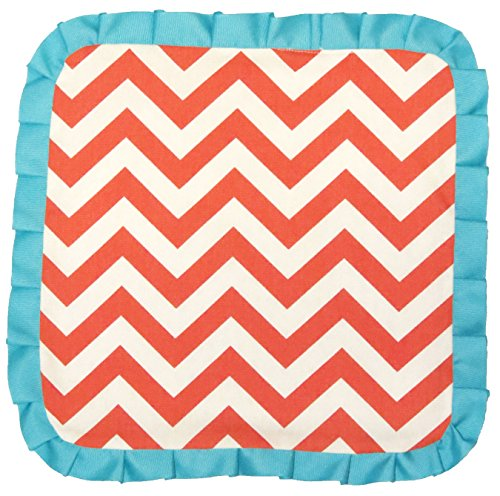 Caught Ya Lookin' Baby Thumb Blanket, Coral and White Chevron from Caught Ya Lookin'