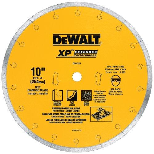 """DeWalt Continuous Rim Premium Tile Blade 10"""", 1.0 CT"""