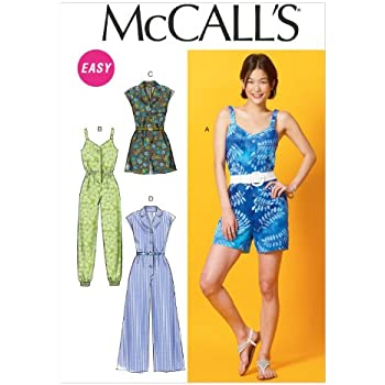 e9d026ff260 McCall s Patterns M7366 Misses  Pleated Surplice or Plunging ...