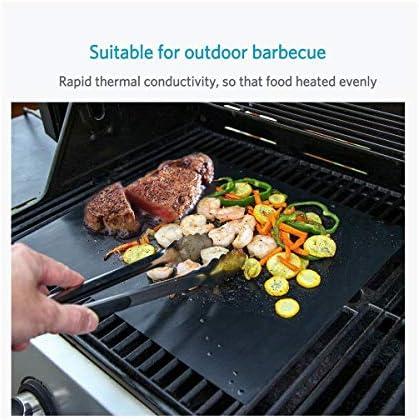 WW 5 PCS Anti-Adhésif Barbecue Tapis 40 * 33 cm Barbecue Tapis Téflon Cuisson Grill Pan Résistance À La Chaleur Cuisine Outil Facile À Nettoyer