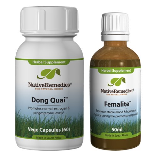 Native Remedies Femalite and Dong Quai ComboPack for control of symptoms and PMS
