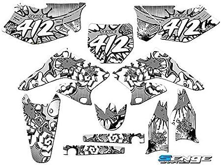 2004-2006 RMZ 250 Zany Yellow Complete Custom Graphics Kit Senge Graphics Compatible with Suzuki.