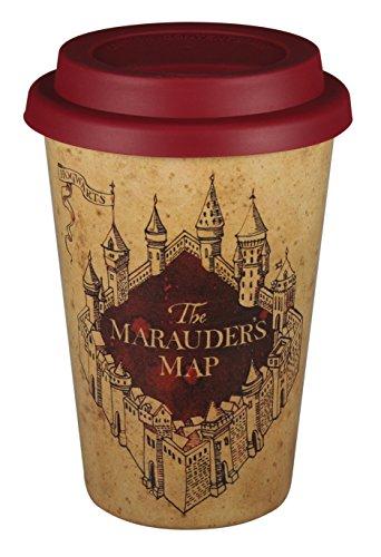Taza de viaje Harry Potter HUSKHP01 400ml (Huskup) - Mapa de Marauder