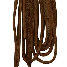 Leather shoe laces dark brown 36 inch 1 pr
