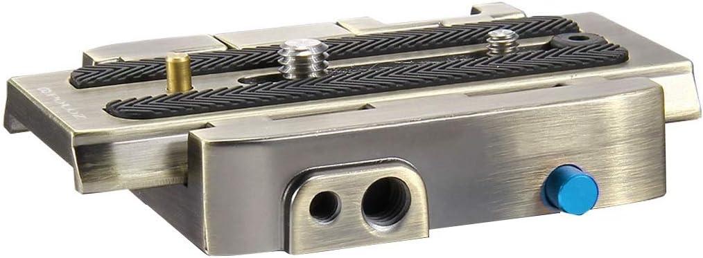 Quick Release Plate for DSLR /& SLR Cameras LAILINSHENG Camera monopods Quick Release Clamp Adapter Black Color : Gold