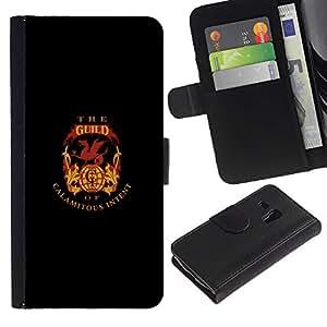 EJOY---Tirón de la caja Cartera de cuero con ranuras para tarjetas / Samsung Galaxy S3 MINI 8190 / --El gremio de Intención calamitoso