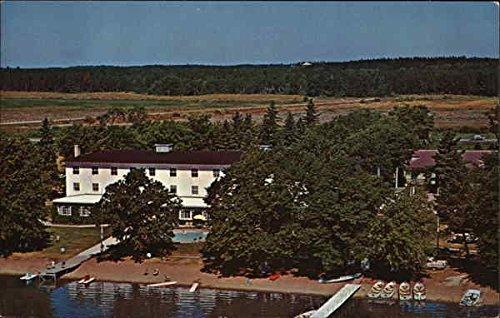 Main Lodge and Pool, Ruttger's Birchmont Lodge Bemidji, Minnesota Original Vintage Postcard