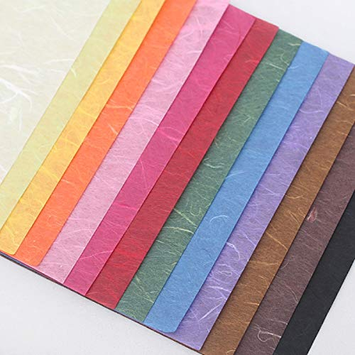 (Color Mulberry Paper Variety 8 Pack - Hanji - 색한지 - Natural Fibers - 25 x 37in - DIY Arts Crafts Origami - Unryu - Kozo)