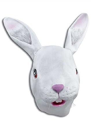 conejo disfraz máscara de látex