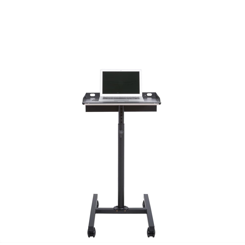 Laptop Rolling Cart Mobile Workstation (Black)