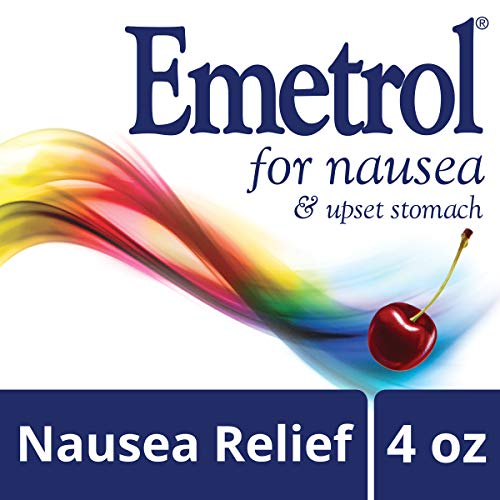 Emetrol Nausea and Upset Stomach Relief Liquid Medication, Cherry - 4 oz Bottle (Best Cure For Upset Stomach And Vomiting)