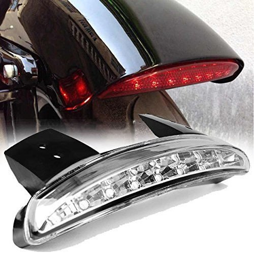 Eagle Lights Red LED Taillight Conversion / Upgrade Kit for Harley Sportster / Dyna (Clear Tail Light) (Fender Kit Conversion)