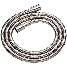 Danze D469020BN Metal Interlock Shower Hose with Brass Conical Nuts, 72-Inch, Brushed Nickel