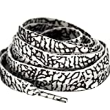 MiracleCat Flat Elephant Skin Pattern Shoelaces for AJ Sneakers and basketball Shoes