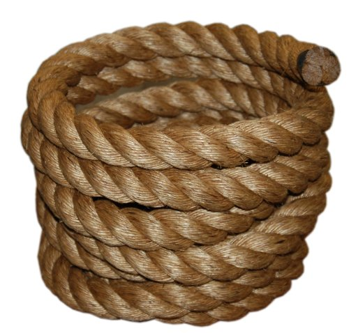 (T.W Evans Cordage 30-097-50 1-1/2-Inch by 50-Feet Pure Number-1 Manila Rope)