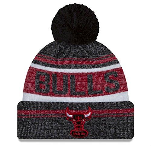 New Era Chicago Bulls Windy City Adult Snow Dayz Knit Beanie One Size Hat Cap - Black / Red / White