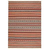 Ikea Rug, flatwoven, handmade rust 5  7 x7  10 , 14214.11142.812