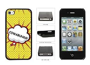 Cowabunga Comic Text Plastic Phone Case Back Cover Apple iPhone 4 4s