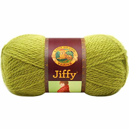 Apple Yarn (Lion Brand Yarn 450-132H Jiffy Yarn, Apple Green)