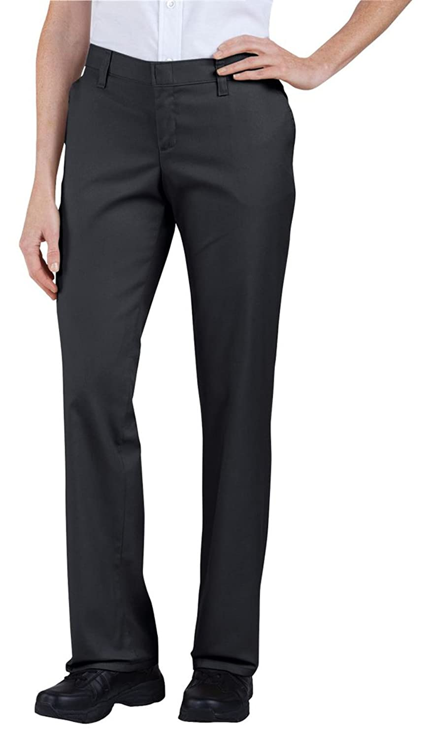 Dickies FP221 Women's Flat Front Pant Dow Charcoal Size 0 Unhemmed