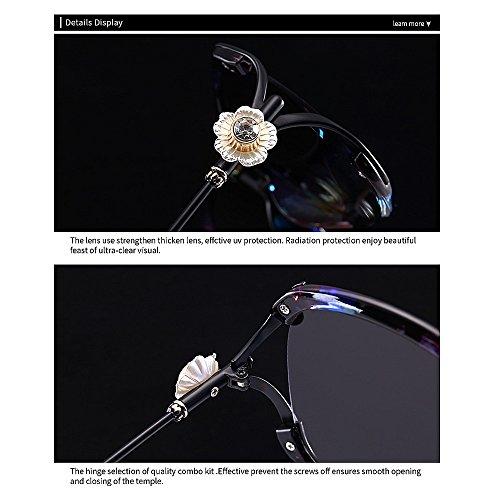 la Aire Graceful C1 Completo Marco Mujeres al y Playa de Flor Peggy para Vacaciones Protección Libre Conducción Gafas Gu Sol Color Verano Cristal UV C3 para de 5qzaFHw