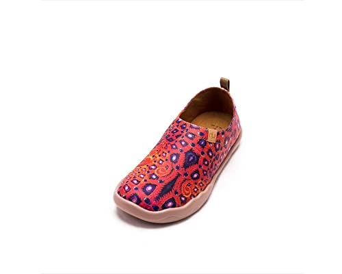 a97929ca UIN Ojos Zapatos de Cuero Pintados Naranja para Las Mujeres (39 ...