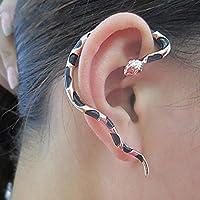 Meenanoom Women Men Punk Gothic Multicolor Snake Ear Stud Cuff Earrings Jewelry