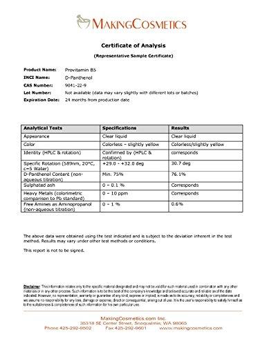MakingCosmetics - Provitamin B5 (d-panthenol) - 2.0floz / 60ml - Cosmetic Ingredient