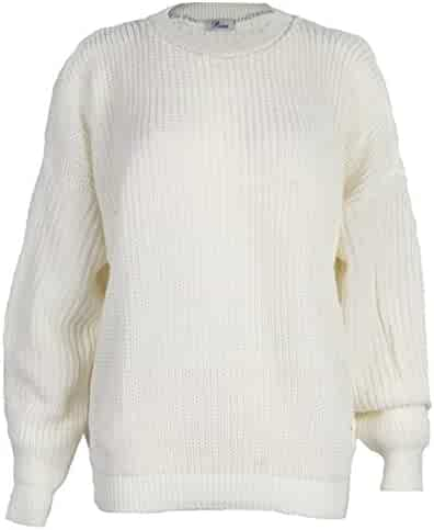 William Ruelas My1stwish Womens Oversized Ladies Knitted Baggy Chunky  Jumper Sweater Top cca28956f
