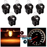 cciyu 6 pcs 509t T5 B8.5D Twist Halogen Light Bulbs 1.2W Replacement fit for Instrument panel Gauge Cluster Speedometer