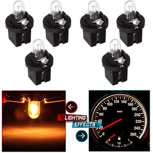 cciyu 6 pcs 509t T5 B8.5D Twist Halogen Light Bulbs 1.2W for Instrument panel Gauge Cluster Speedometer by CCIYU