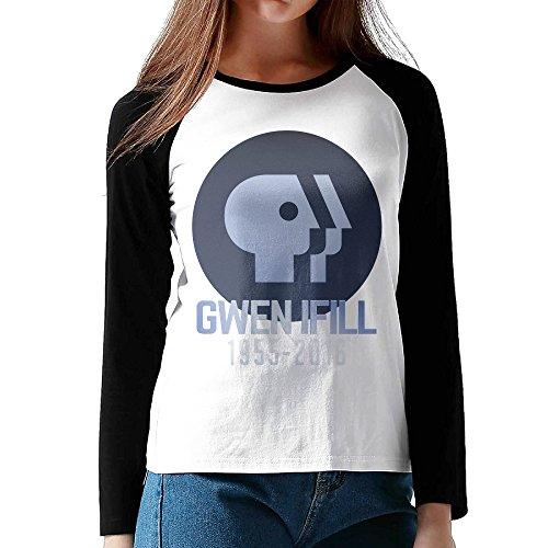 Gwen Ifill 1955-2016 Womens Long Raglan Sleeve Baseball Shirts