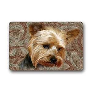 "DONGMEN yorkie Outdoor/Indoor Rug/Doormat 18"" x 30"" Rubber Backed Non-slip Entrance Mat/Doormat Floor Mat"