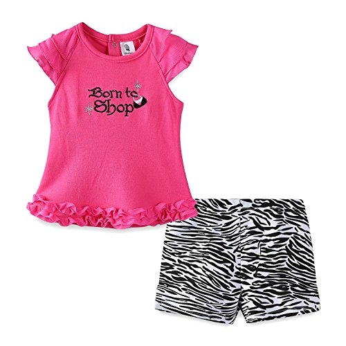 Mud Kingdom Thanksgiving Baby Girl Outfit Lace Top and Short Clothes Set 9M Rose Red Born to Shop