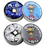 Three Legs 2 Pack 80g 2.8 Ounce Magnetic Putty Slime Super Stress Reliever Infused with Iron Slime Toy for Kids & Adults New in 2019 Blue and Silver