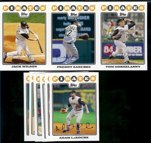 (Pittsburgh Pirates Baseball Cards - 6 Years Of Topps Team Sets 2004,2005,2006,2007, 2008 & 2009 - Includes ALL regular issue Topps Cards For 6 Years - Includes Stars, Rookie Cards & More!)