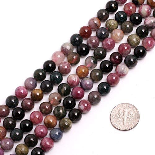 Multicolored Tourmaline Lepidolite Beads for Jewelry Making 15'' (8MM/multicoloured)