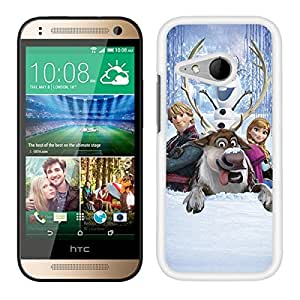 FUNDA CARCASA PARA HTC ONE MINI 2 FROZEN 8 BORDE BLANCO
