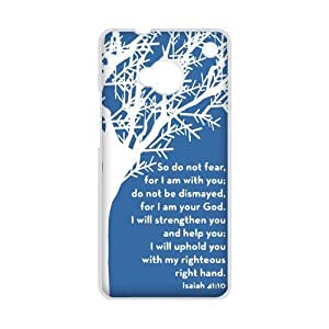 diycover HTC One M7 Case - Christian Theme - Bible Verse Isaiah 41:10 - Hard Case Cover Protector Gift Idea by icecream design