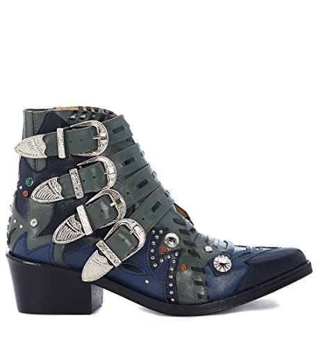 Boucles Et Vert PULLA en Bleu Texane Vert Suede Et TOGA 0x8Ow6Hwq
