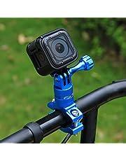 Puluz Fahrrad Lenker-Halterung, 360Grad, aus Aluminium mit Schraube für GoPro Hero5Session/5/4,Session/4/3+/3/2/1, Xiaoyi Sport-Kamera