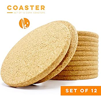 Drink Coaster | Amazon Com Absorbent Cork Coasters Circle Set Of 12 Best